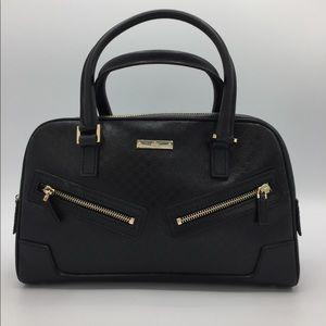 Gucci Micro GG Black Leather Small Satchel Bag